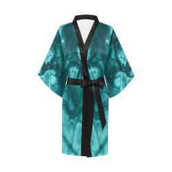 Alien Light Blue. Kimono Robe