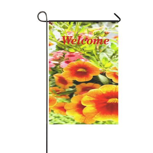 Orange Petunias Garden Flag 12''x18''(Without Flagpole)