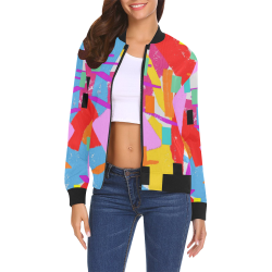 CONFETTI NIGHTS 2A All Over Print Bomber Jacket for Women (Model H19)