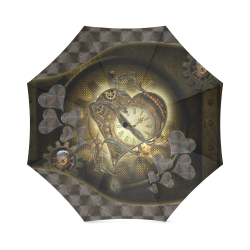 Awesome steampunk heart Foldable Umbrella (Model U01)