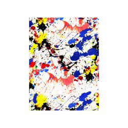 "Blue and Red Paint Splatter Poster 18""x24"""