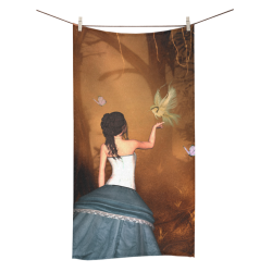 "Fairy with fantasy bird Bath Towel 30""x56"""