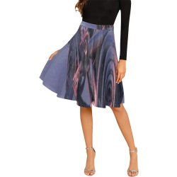 Fractal flash Melete Pleated Midi Skirt (Model D15)