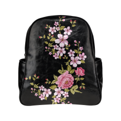Pure Nature - Summer Of Pink Roses 1 Multi-Pockets Backpack (Model 1636)