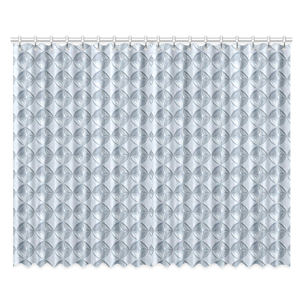 """Glass pattern on a marble background Window Curtain 52""""x84""""(Two Pieces)"""