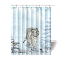"Wonderful siberian tiger Shower Curtain 60""x72"""