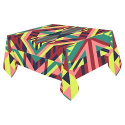 "Modern Geometric Pattern Cotton Linen Tablecloth 52""x 70"""