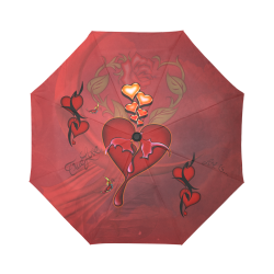 Wonderful hearts Auto-Foldable Umbrella (Model U04)