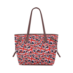 Union Jack British UK Flag - Brown Clover Canvas Tote Bag (Model 1661)