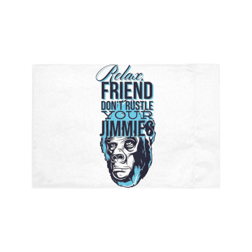 306 RELAX FRIEND DON'T RUSTLE YOUR JIMMIES Motorcycle Flag (Twin Sides)