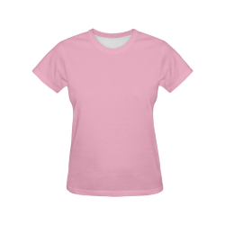Nadeshilo Pink All Over Print T-Shirt for Women (USA Size) (Model T40)