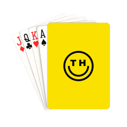 """THC FACE LOGO YELLOW CARDS Playing Cards 2.5""""x3.5"""""""