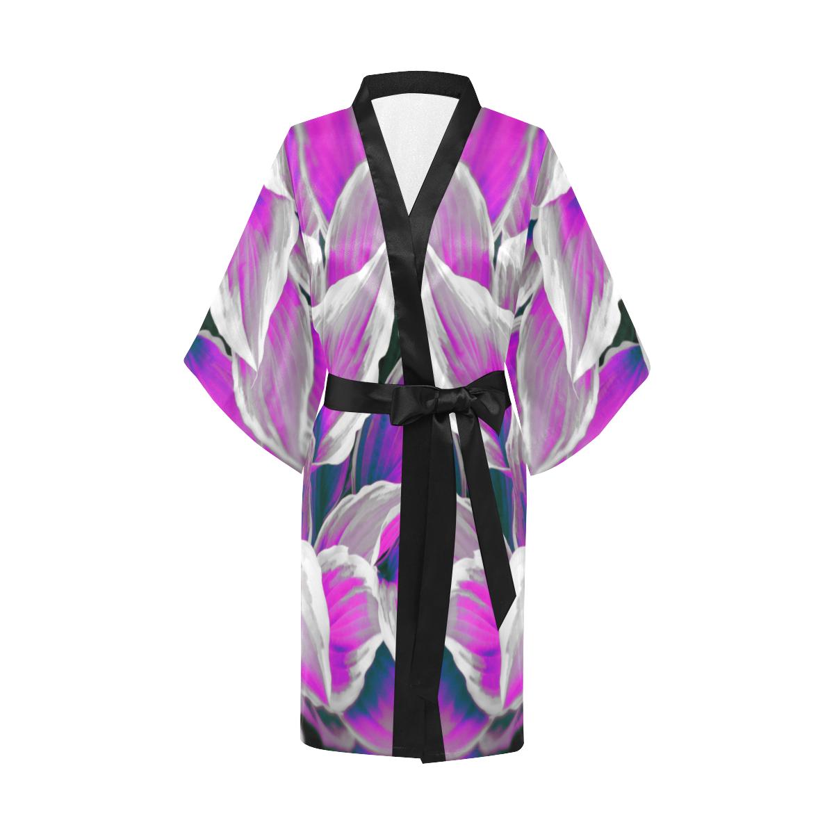 leafs_abstract 06 Kimono Robe