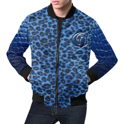 TIGER SKIN CROCO All Over Print Bomber Jacket for Men (Model H19)