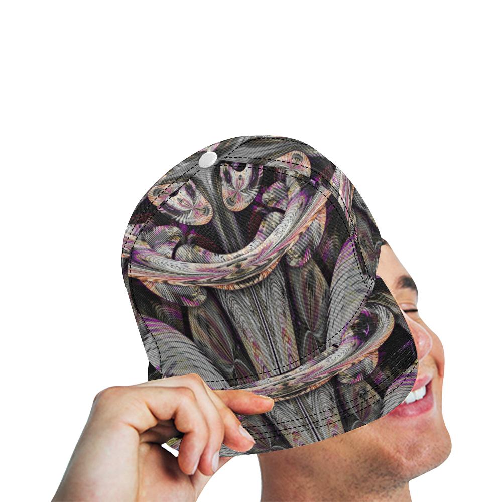 sml 5000DUBLE 55 face'em 7 All Over Print Snapback Hat D