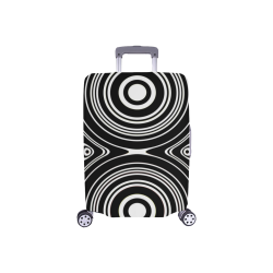 """Concentric Circle Pattern Luggage Cover/Small 18""""-21"""""""