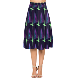Graphic illusion Aoede Crepe Skirt (Model D16)
