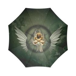 Skull in a hand Foldable Umbrella (Model U01)