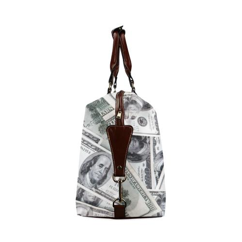 Cash Money / Hundred Dollar Bills Classic Travel Bag (Model 1643) Remake