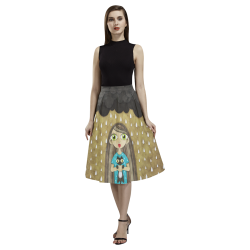 We Love Rain Aoede Crepe Skirt (Model D16)