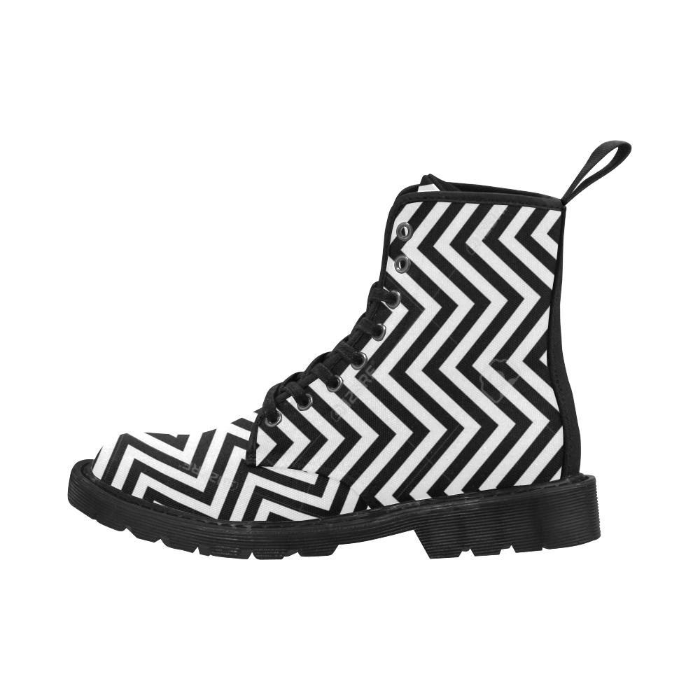 Zig Zag Martin Boots for Women (Black) (Model 1203H)