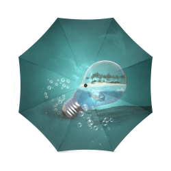 Awesome light bulb with island Foldable Umbrella (Model U01)