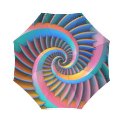 Opposing Spirals Foldable Umbrella (Model U01)