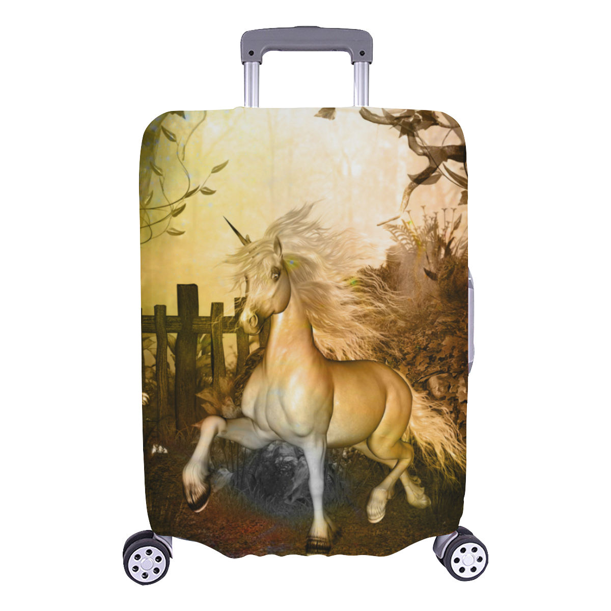 """White unicorn in the night Luggage Cover/Large 26""""-28"""""""
