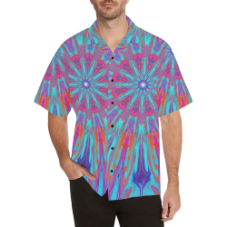 fish peacock2 Hawaiian Shirt (Model T58)