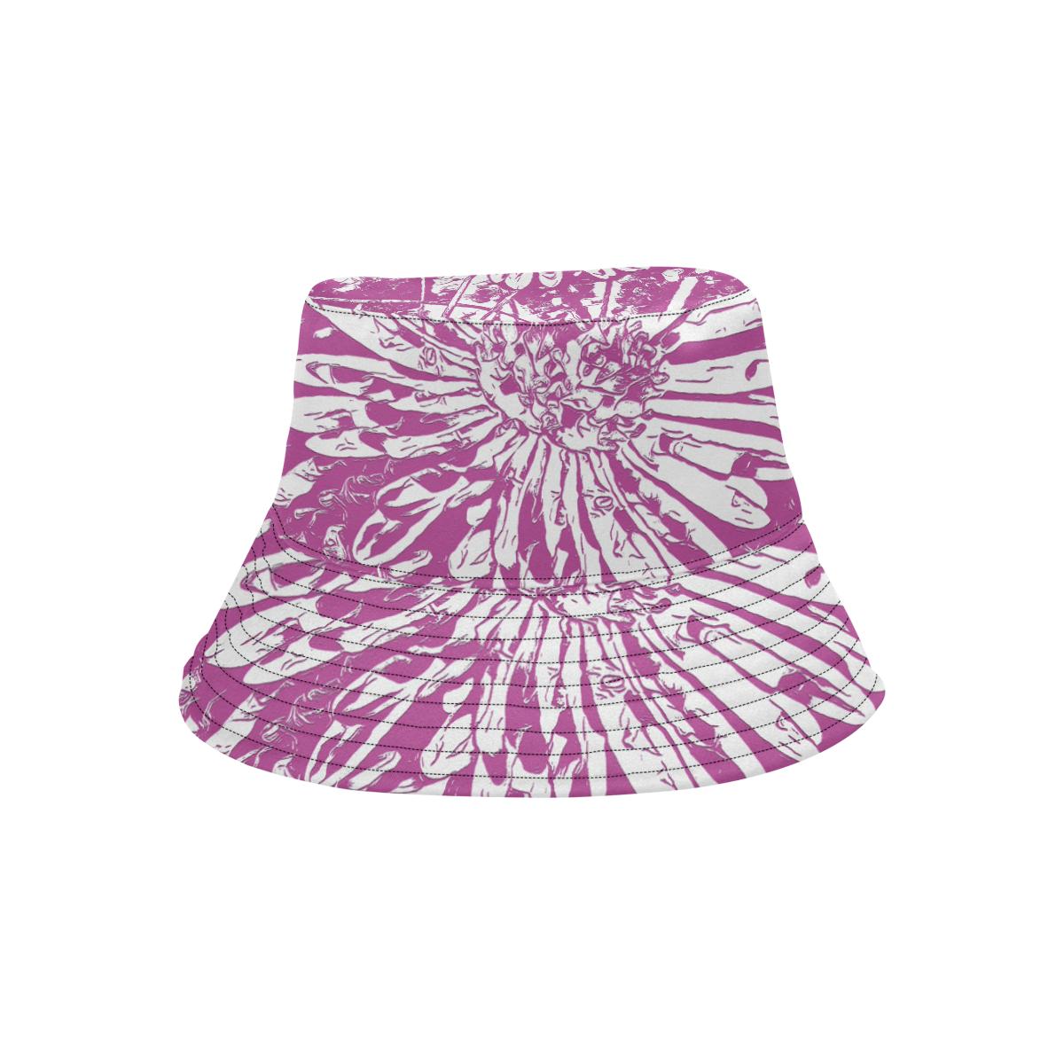 PINK FLOWER LADYLIKE II All Over Print Bucket Hat