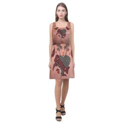 Heart with butterflies Hebe Casual Sundress (Model D11)