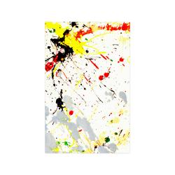 "Yellow & Black Paint Splatter Poster 11""x17"""