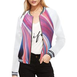 oil_b All Over Print Bomber Jacket for Women (Model H21)