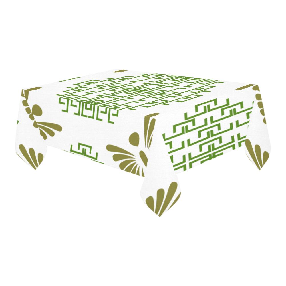 "Ethnic folk ornament Cotton Linen Tablecloth 60"" x 90"""