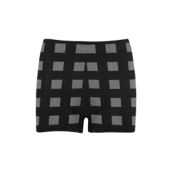 Mod Black Gray Checks Briseis Skinny Shorts (Model L04)