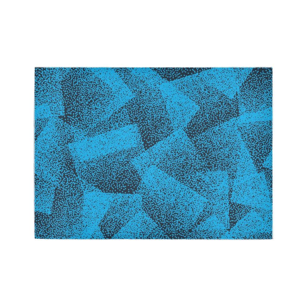 Blue Stippled Area Rug Area Rug7'x5'