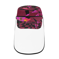 Abstract # 12 Military Style Cap (Detachable Face Shield)