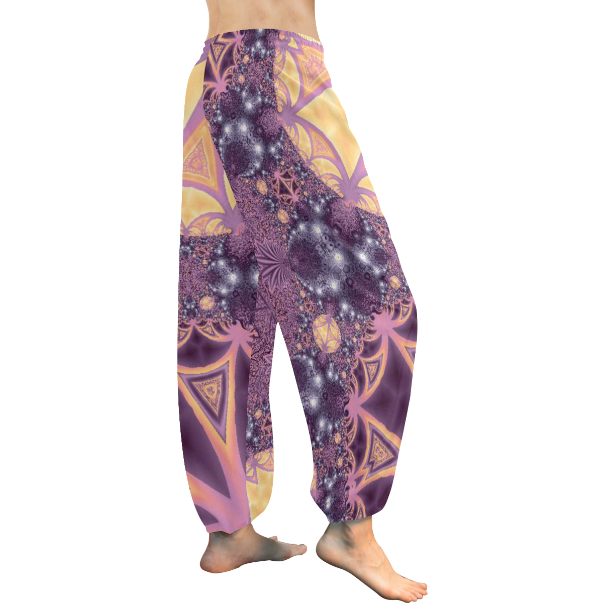 Soft Colourful Tropics Women's All Over Print Harem Pants (Model L18)