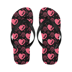 Hearts Flip Flip Flops for Men/Women (Model 040)