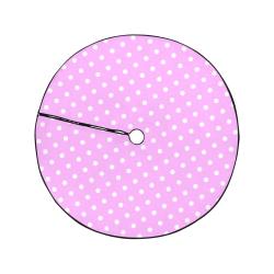 """Polka Dots White on Pink Christmas Tree Skirt 47"""" x 47"""""""