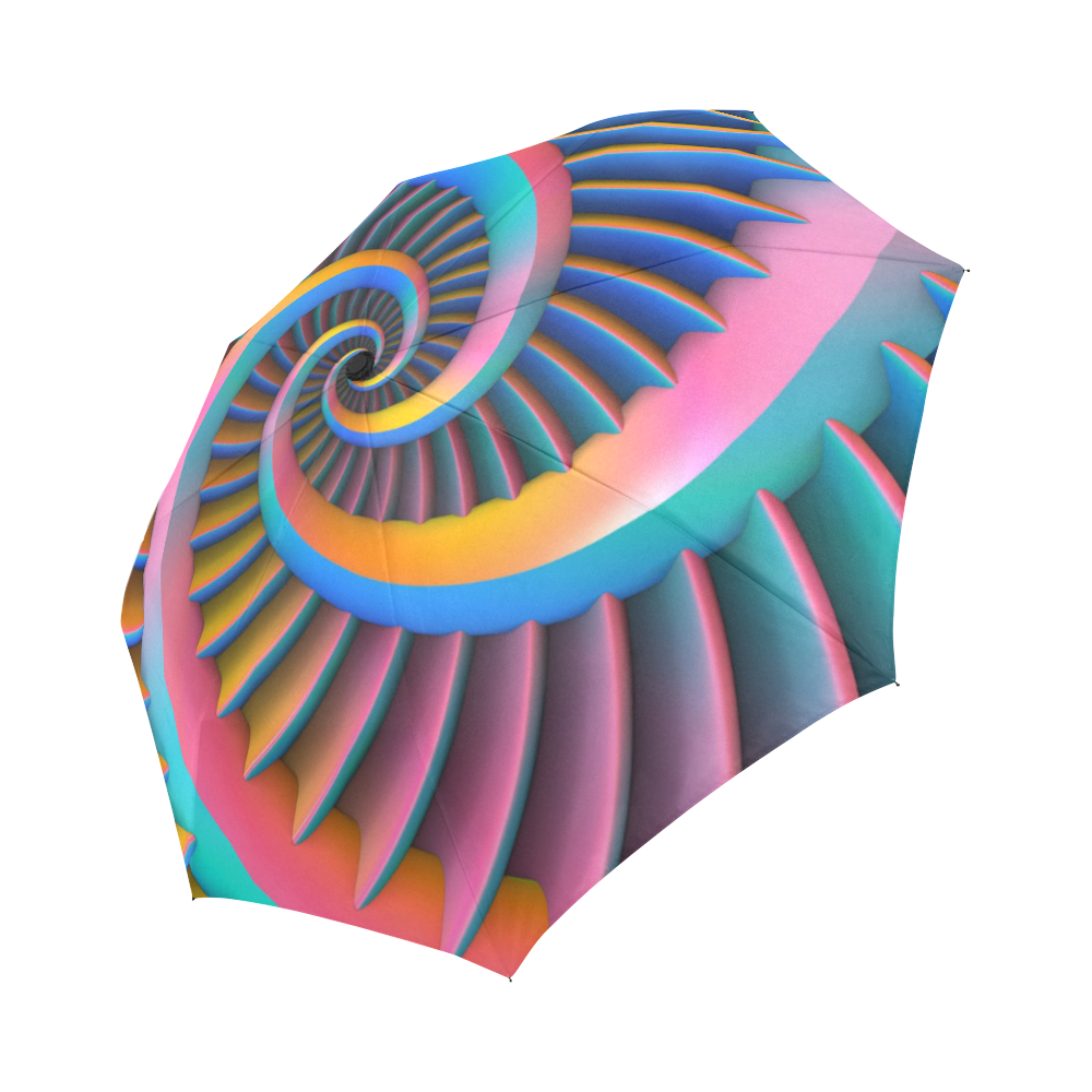 Opposing Spirals Auto-Foldable Umbrella (Model U04)