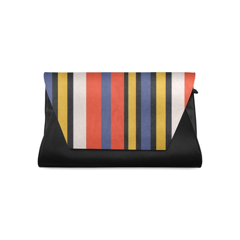 Elegant Stripes Clutch Bag (Model 1630)