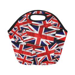 Union Jack British UK Flag Neoprene Lunch Bag/Small (Model 1669)
