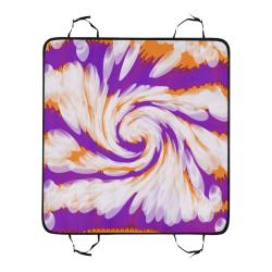 Purple Orange Tie Dye Swirl Abstract Pet Car Seat 55''x58''