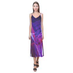 Ultra variation V-Neck Open Fork Long Dress(Model D18)
