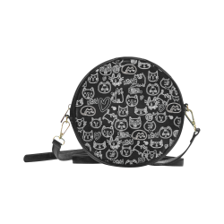 Meow Cats Round Sling Bag (Model 1647)