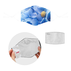 Snail & Hydrangea Flowers 3D Mouth Mask with Drawstring (2 Filters Included) (Model M04) (Non-medical Products)