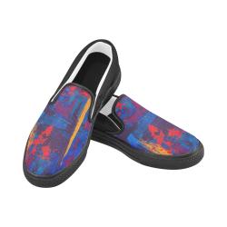 oil_l Men's Unusual Slip-on Canvas Shoes (Model 019)