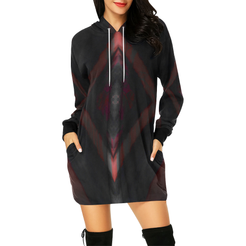 5000xart 12 All Over Print Hoodie Mini Dress (Model H27)