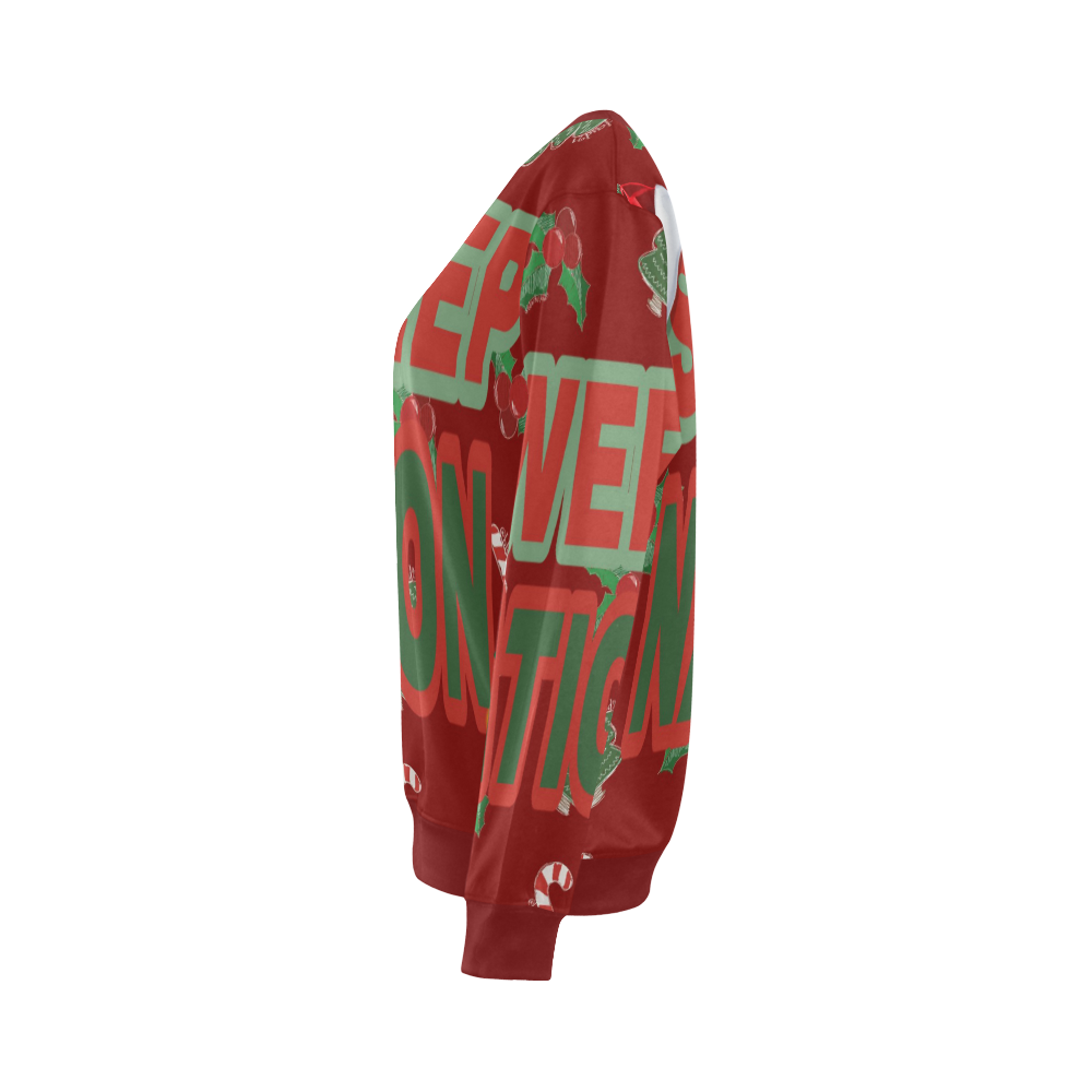 Sweep Nation - Christmas All Over Print Crewneck Sweatshirt for Women (Model H18)